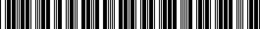 Barcode for PT2060813913