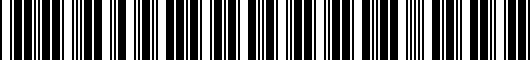 Barcode for PT2085115340