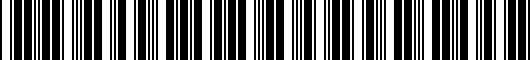 Barcode for PT9493318002